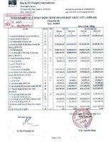 Báo cáo KQKD hợp nhất quý 4 năm 2010 - Công ty Cổ phần Đại lý Vận tải SAFI