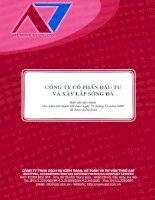Báo cáo tài chính năm 2009 (đã kiểm toán) - Công ty Cổ phần Đầu tư và Xây lắp Sông Đà