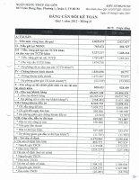 Báo cáo tài chính công ty mẹ quý 1 năm 2012 - Ngân hàng Thương mại Cổ phần Sài Gòn