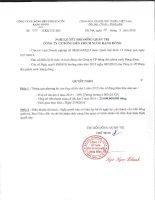 Nghị quyết Hội đồng Quản trị - Công ty Cổ phần Bóng đèn Phích nước Rạng Đông