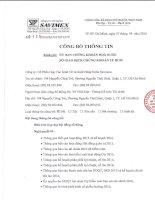 Nghị quyết Đại hội cổ đông thường niên - Công ty Cổ phần Hợp tác kinh tế và Xuất nhập khẩu SAVIMEX