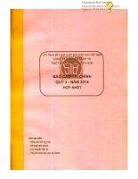 Báo cáo tài chính hợp nhất quý 3 năm 2014 - Công ty Cổ phần Sách và Thiết bị trường học Tp. Hồ Chí Minh