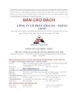 Bản cáo bạch - Công ty cổ phần Sông Đà - Thăng Long