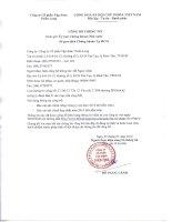 Báo cáo tài chính hợp nhất năm 2015 (đã kiểm toán) - Công ty Cổ phần Tập đoàn Thiên Long