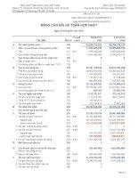 Báo cáo tài chính hợp nhất quý 3 năm 2010 - Công ty Cổ phần Sách và Thiết bị trường học Tp. Hồ Chí Minh