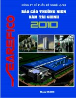 Báo cáo thường niên năm 2010 - Công ty Cổ phần Kỹ Nghệ Lạnh