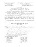 Nghị quyết đại hội cổ đông ngày 06-05-2011 - Công ty Cổ phần Xây lắp và Đầu tư Sông Đà