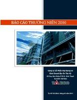 Báo cáo thường niên năm 2010 - Công  ty Cổ phần Xây dựng và Kinh doanh Địa ốc Tân Kỷ