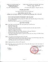 Nghị quyết Hội đồng Quản trị ngày 02-06-2011 - Công  ty Cổ phần Xây dựng và Kinh doanh Địa ốc Tân Kỷ