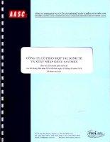 Báo cáo tài chính quý 2 năm 2014 (đã soát xét) - Công ty Cổ phần Hợp tác kinh tế và Xuất nhập khẩu SAVIMEX
