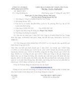 Báo cáo tài chính quý 1 năm 2015 - Công ty Cổ phần Sông Đà Cao Cường