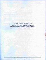 Báo cáo tài chính năm 2013 (đã kiểm toán) - Công ty Cổ phần Xây dựng số 5