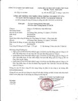 Nghị quyết Hội đồng Quản trị - Công ty Cổ phần Kho vận Miền Nam