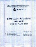 Báo cáo tài chính hợp nhất quý 3 năm 2015 - CTCP Dịch vụ Hàng không Sân bay Tân Sơn Nhất