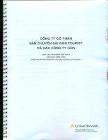 Báo cáo tài chính hợp nhất năm 2011 (đã kiểm toán) - Công ty cổ phần Vận chuyển Sài Gòn Tourist