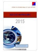 Báo cáo thường niên năm 2015 - Công ty Cổ phần Đại lý Vận tải SAFI