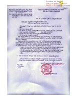 Báo cáo tài chính hợp nhất quý 2 năm 2014 - Công ty Cổ phần Sách và Thiết bị trường học Tp. Hồ Chí Minh