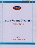 Báo cáo thường niên năm 2015 - Công ty Cổ phần Lương thực Thực phẩm Safoco