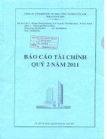 Báo cáo tài chính quý 2 năm 2011 - Công ty cổ phần Đầu tư Xây dựng Thương mại Dầu khí-IDICO