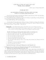Nghị quyết Đại hội cổ đông thường niên năm 2008 - Công ty cổ phần Mía đường 333