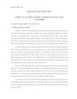 Báo cáo thường niên năm 2006 - Công ty Cổ phần Công nghiệp Tung Kuang