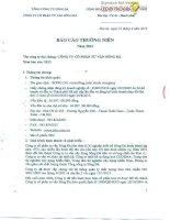 Báo cáo thường niên năm 2013 - Công ty Cổ phần Tư vấn Sông Đà