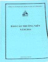 Báo cáo thường niên năm 2014 - Công ty Cổ phần Xây dựng và Đầu tư Sông Đà 9