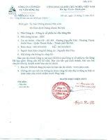 Báo cáo tài chính công ty mẹ quý 3 năm 2014 - Công ty Cổ phần Tư vấn Sông Đà