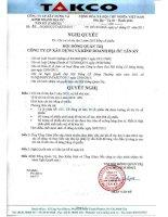 Nghị quyết Hội đồng Quản trị ngày 01-07-2011 - Công  ty Cổ phần Xây dựng và Kinh doanh Địa ốc Tân Kỷ