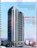 Báo cáo thường niên năm 2015 - Công ty cổ phần Bất động sản và Xây dựng Trường Thành