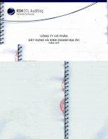Báo cáo tài chính quý 2 năm 2013 (đã soát xét) - Công  ty Cổ phần Xây dựng và Kinh doanh Địa ốc Tân Kỷ