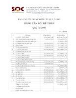Báo cáo tài chính quý 4 năm 2009 - Công ty Cổ phần Khoáng sản Sài Gòn - Quy Nhơn