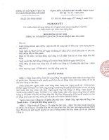 Nghị quyết Hội đồng Quản trị - Công ty Cổ phần Vận tải và Giao nhận bia Sài Gòn