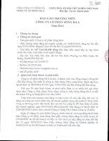 Báo cáo thường niên năm 2014 - Công ty Cổ phần Sông Đà 6