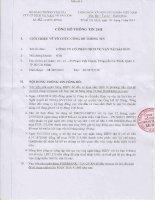 Nghị quyết Hội đồng Quản trị - Công ty Cổ phần Dịch vụ Vận tải Sài Gòn