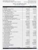 Báo cáo tài chính hợp nhất quý 1 năm 2012 - Ngân hàng Thương mại Cổ phần Sài Gòn