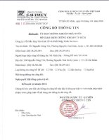 Nghị quyết Hội đồng Quản trị - Công ty Cổ phần Hợp tác kinh tế và Xuất nhập khẩu SAVIMEX