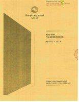 Báo cáo tài chính công ty mẹ quý 2 năm 2013 - Công ty Cổ phần Tập đoàn Đầu tư Thăng Long