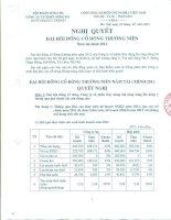 Nghị quyết Đại hội cổ đông thường niên năm 2012 - Công ty Cổ phần Xây dựng hạ tầng Sông Đà