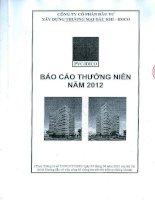 Báo cáo thường niên năm 2012 - Công ty cổ phần Đầu tư Xây dựng Thương mại Dầu khí-IDICO