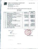 Báo cáo tài chính công ty mẹ quý 4 năm 2010 - Công ty Cổ phần Đại lý Vận tải SAFI