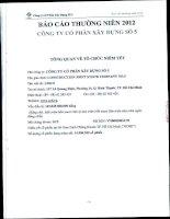 Báo cáo thường niên năm 2012 - Công ty Cổ phần Xây dựng số 5