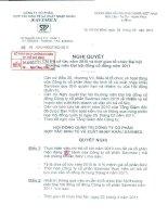 Nghị quyết Hội đồng Quản trị ngày 28-2-2011 - Công ty Cổ phần Hợp tác kinh tế và Xuất nhập khẩu SAVIMEX