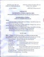 Nghị quyết Đại hội cổ đông thường niên năm 2011 - Công ty Cổ phần Sông Đà 207