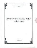 Báo cáo thường niên năm 2012 - CTCP Thủy sản và Thương mại Thuận Phước