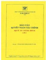 Báo cáo tài chính quý 4 năm 2014 - Công ty Cổ phần Hợp tác kinh tế và Xuất nhập khẩu SAVIMEX