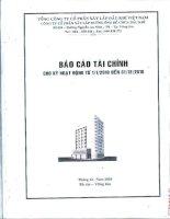 Báo cáo tài chính quý 4 năm 2010 - Công ty Cổ phần Xây lắp Đường ống Bể chứa Dầu khí