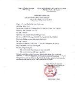 Báo cáo tài chính hợp nhất quý 1 năm 2015 - Công ty Cổ phần Tập đoàn Thiên Long
