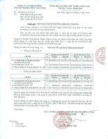 Báo cáo tài chính hợp nhất quý 1 năm 2015 - Công ty cổ phần Mía đường Thành Thành Công Tây Ninh