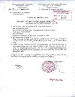 Nghị quyết Hội đồng Quản trị - Công ty Cổ phần Xuất nhập khẩu Thủy sản Sài Gòn